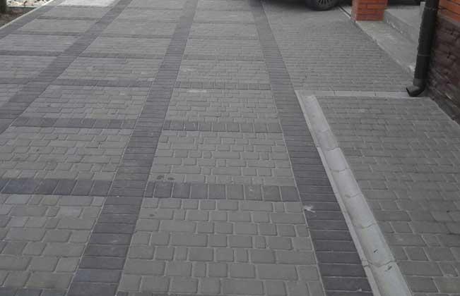 Тротуарная плитка кирпичик