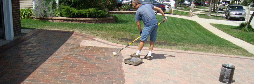 Как чистить тротуарную плитку