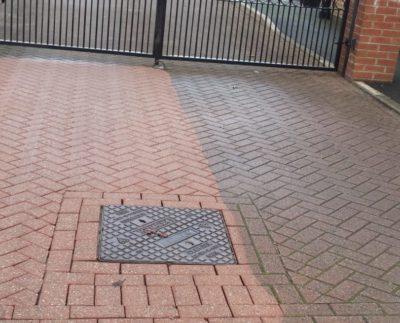 Удаление пятен на тротуарной плитке — от масла, жира и ржавчины.